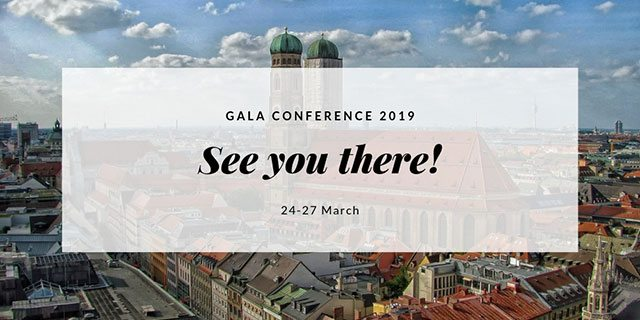 Coming up the Annual GALA Conference in Munich