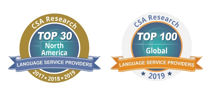 1-StopAsia Recognized Among Largest Language Service Providers in the World and North America