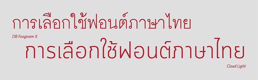 Thai font