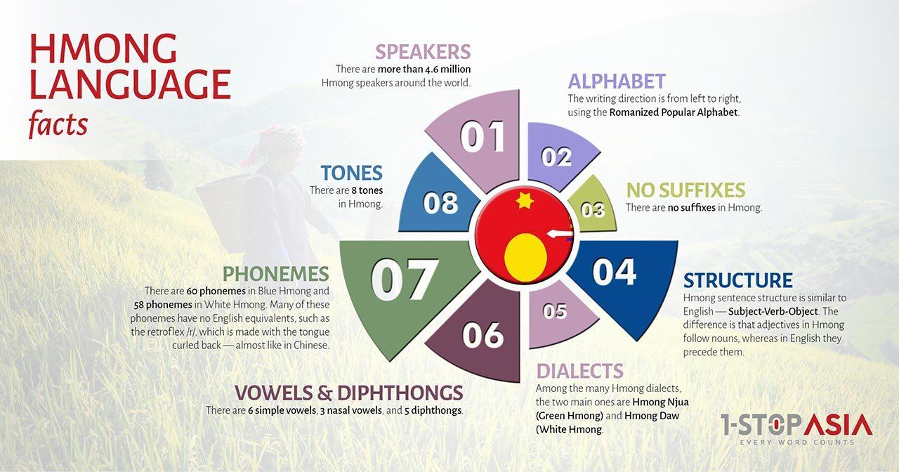 Hmong Language Infographics