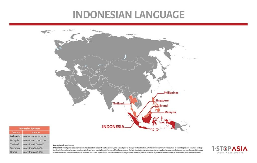 Indonesian Language Map