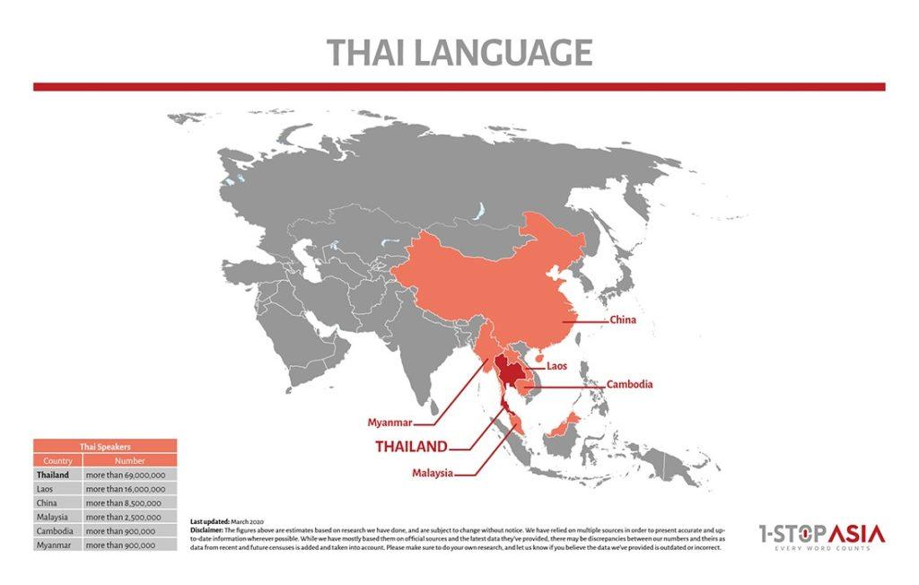 Thai Language Map