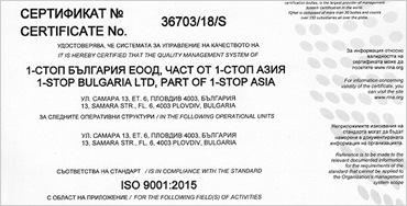 ISO Recertification 9001:2015 2021